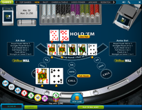 Casino hold'em players gets full house and AA bonus