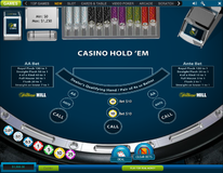 Casino hold'em ante and AA bets placed