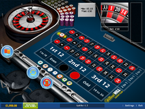 Roulette bet on a split