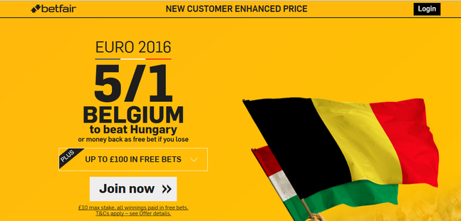 Belgium to beat Hungary last 16 Euro 2016 Offer.png