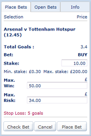 Buying Total Goals - Maximum Win and Maximum Risk - Arsenal Vs Tottenham