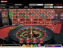 Roulette selections on columns and dozens