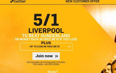 Liverpool 5-1 - Enhanced Betfair Offer - Liverpool vs Sunderland.jpg