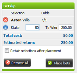 win or profit and return calculated on a Stanjames betslip using the given odds and stake entered