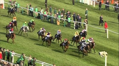 A typical blanket finish in The Coral Cup, one of the most competitive and exciting handicaps of the Cheltenham festival..jpg